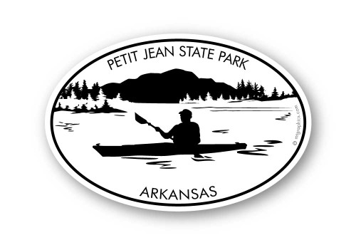 Wholesale Kayak Mountains and Lake Sticker