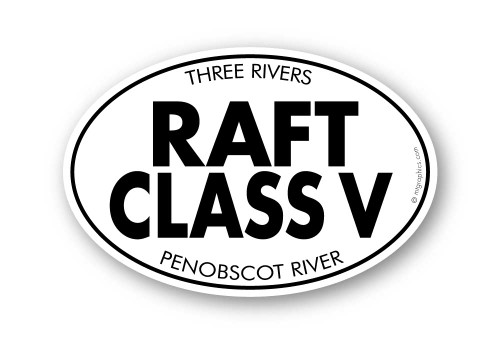 Wholesale Raft Class V Sticker