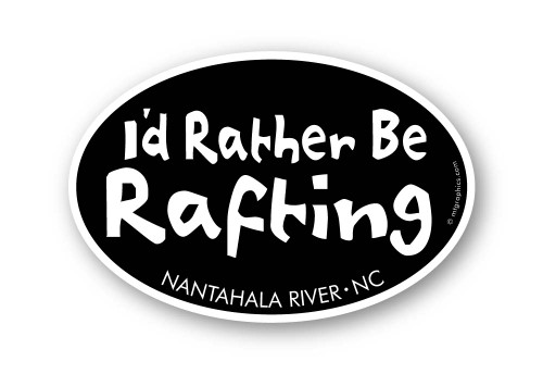 Wholesale I'd Rather be Rafting Sticker