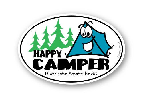 Wholesale Happy Camper Sticker