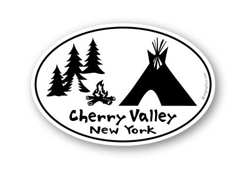 Wholesale Teepee with Campfire and Trees Sticker