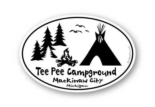 Wholesale Teepee with Campfire and Birds Sticker