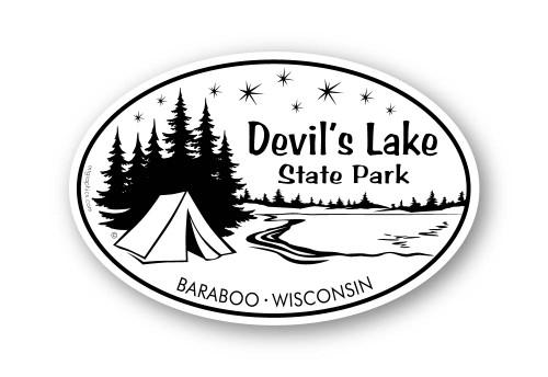 Wholesale Camping Lake Sticker
