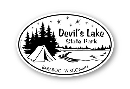 Wholesale Camping Lake Sticker