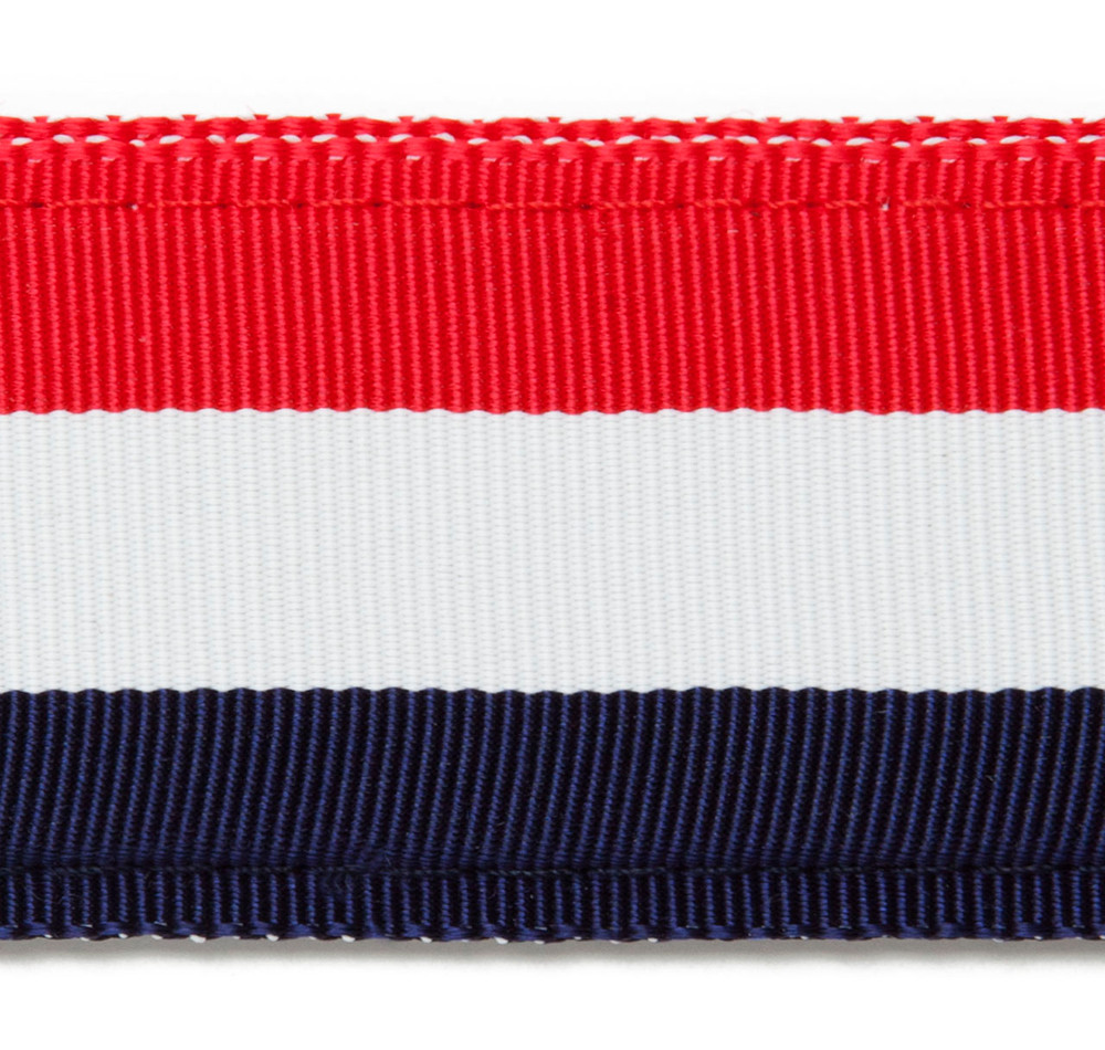 Red, White, and Blue Stripe Ribbon Belt