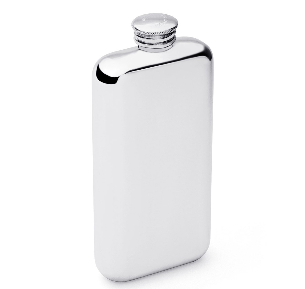 3oz Pewter Screw Top Flask