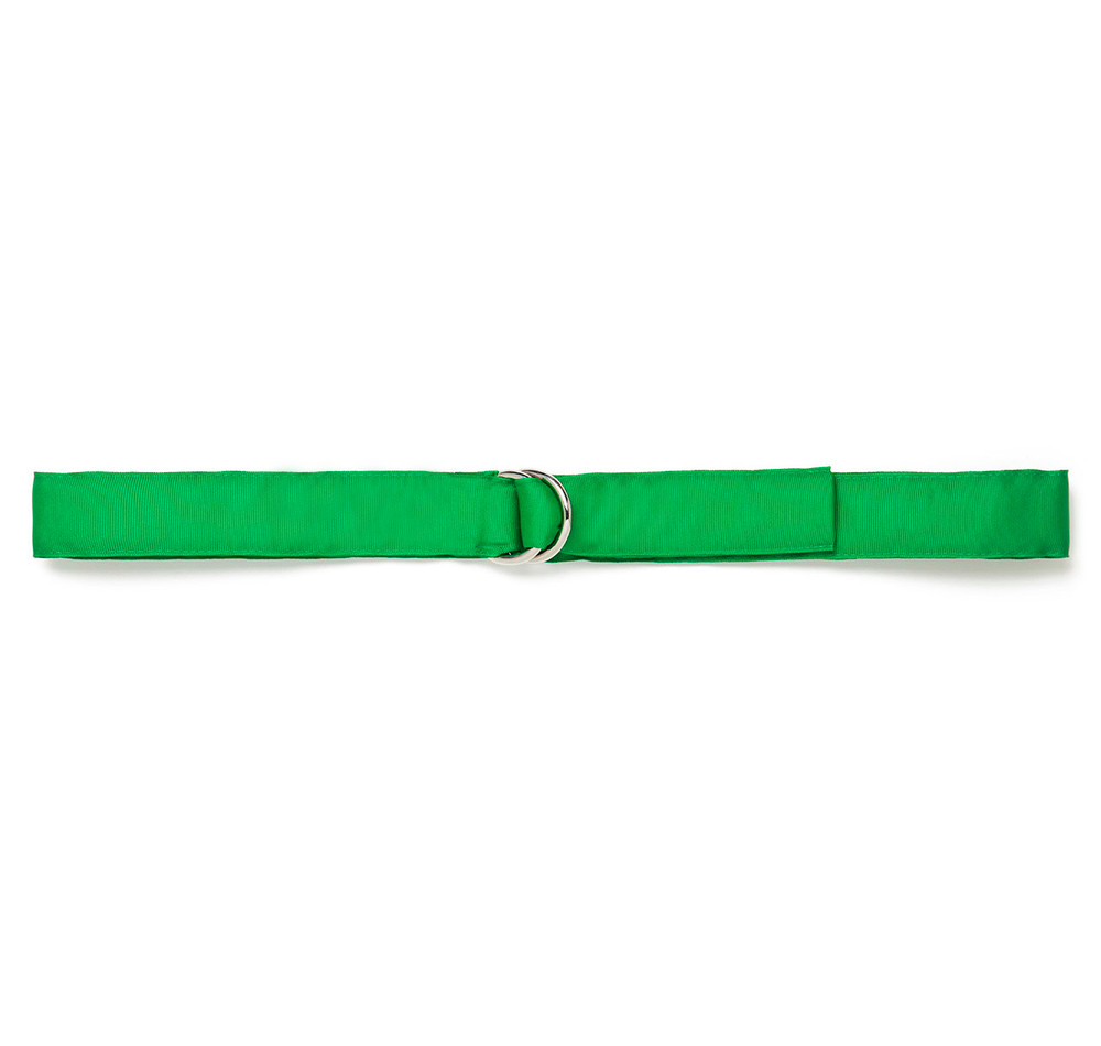 Kelly Green Ribbon Belt