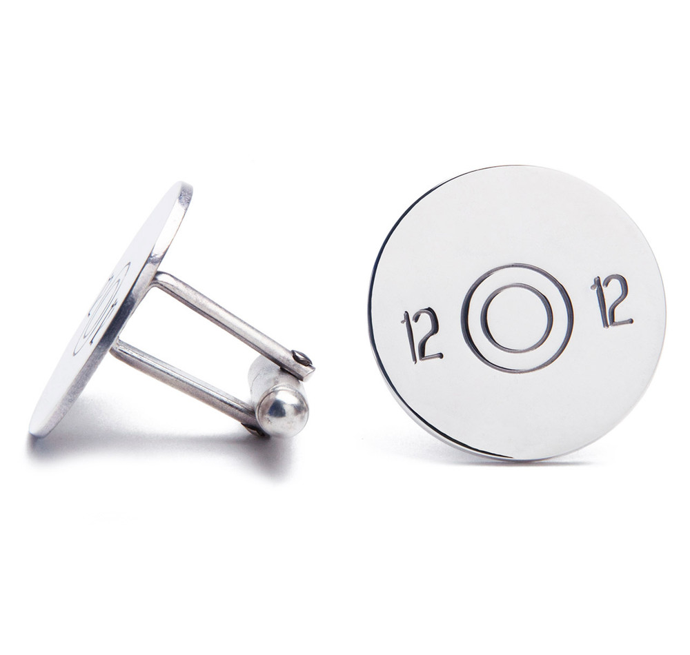 Sterling Cartridge Cufflinks