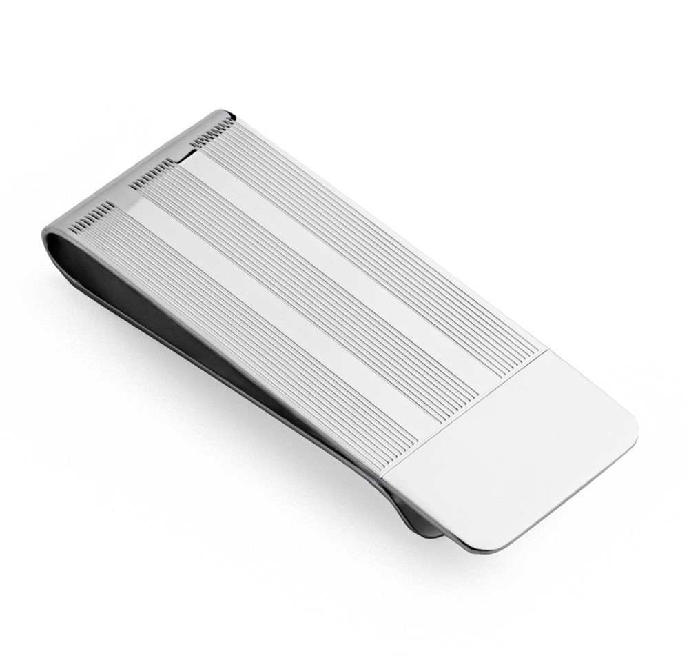 Sterling Silver Engine-Turned Money Clip