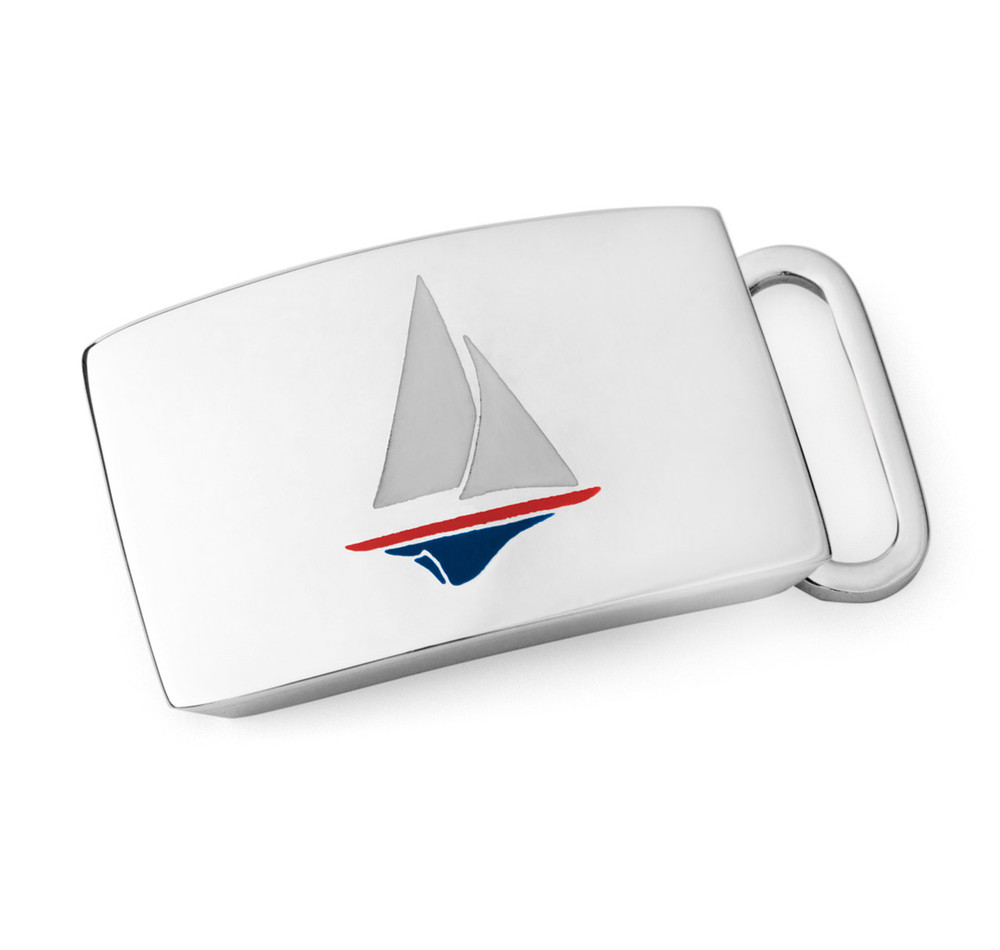 Sterling Silver Sailboat Belt Buckle