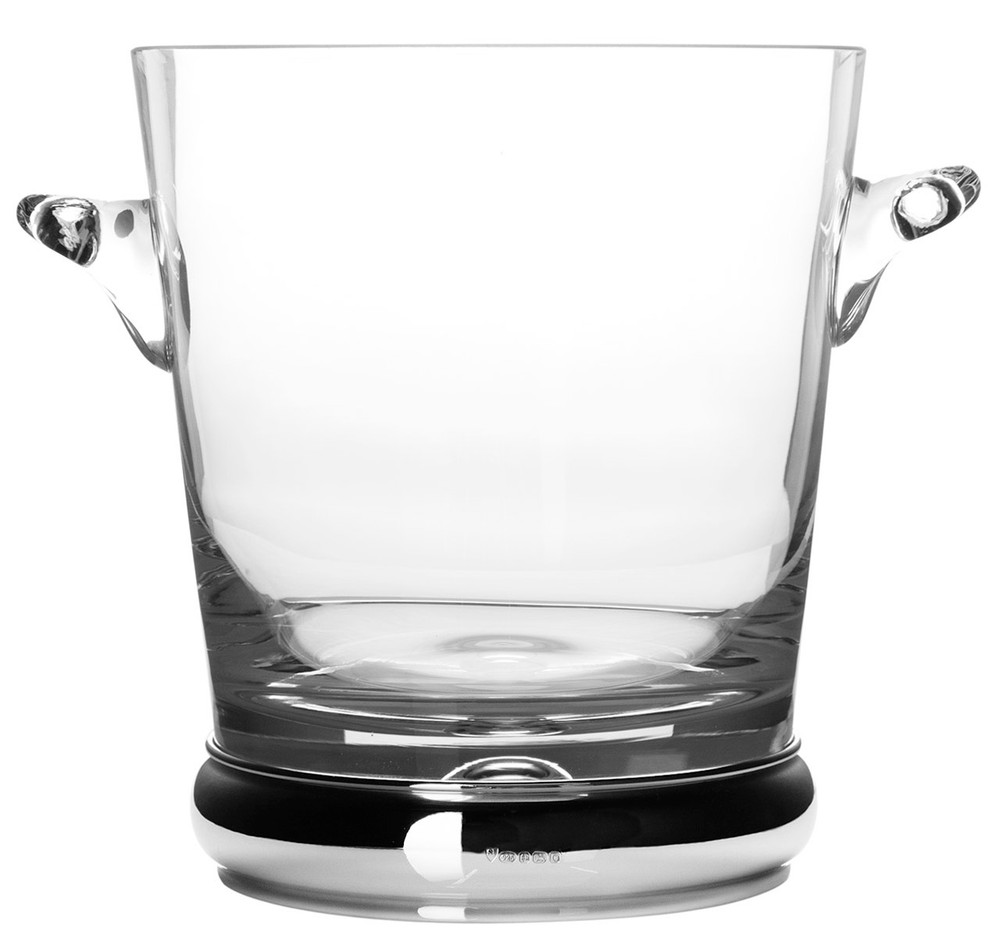Sterling Silver & Glass Champagne Bucket