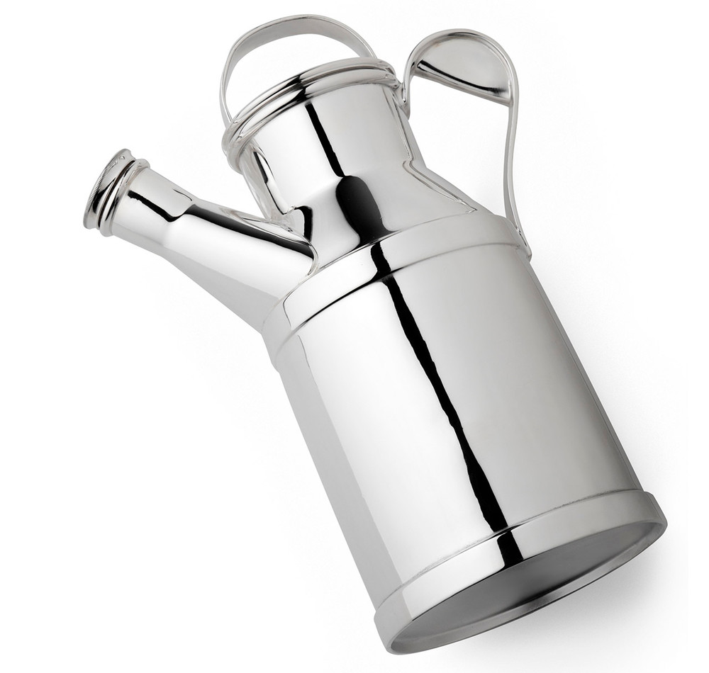 Reed & Barton Silver-Plated Milk Can Cocktail Shaker