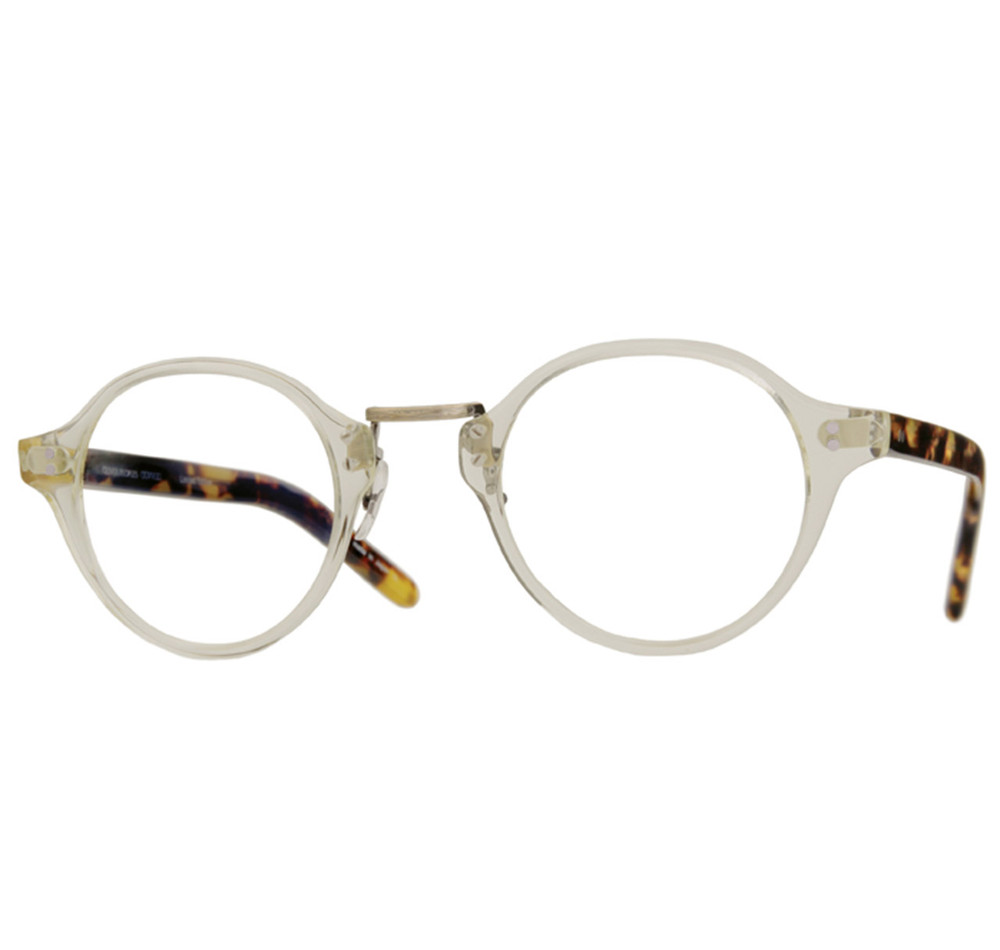 Oliver Peoples OP-1955 Beige Crystal & Dark Tortoise Brown
