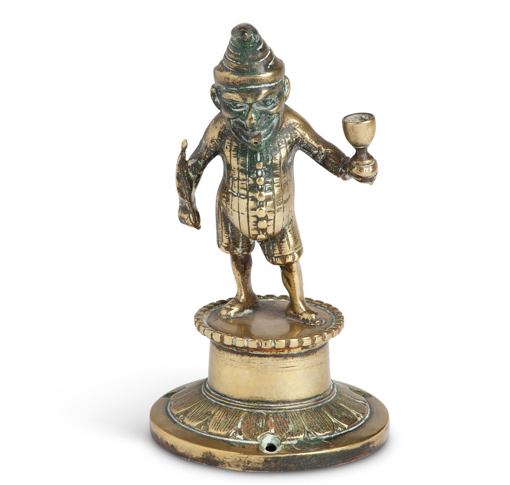Victorian Brass Mr. Punch Tobacconist Counter Cigar Lighter