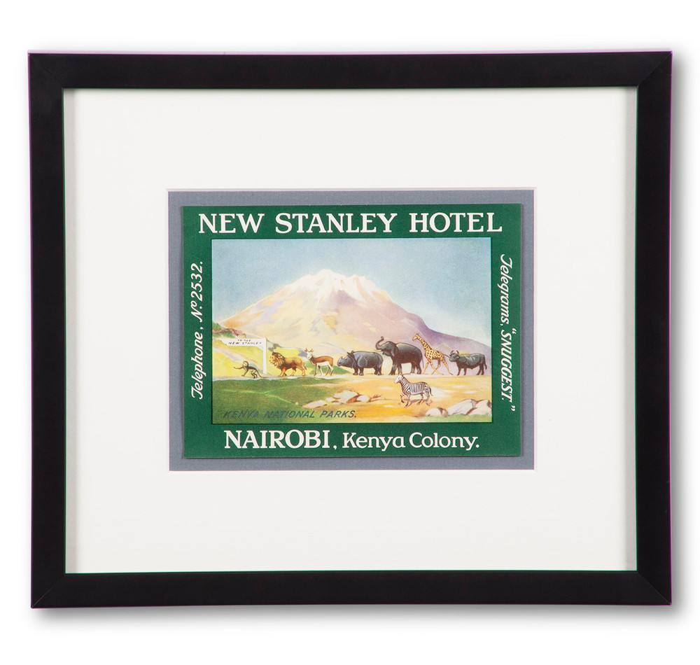 New Stanley Hotel Nairobi Kenya Luggage Label