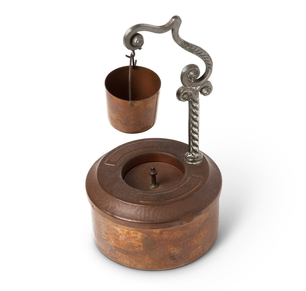 Vintage Copper & Pewter Wishing Well Ashtray