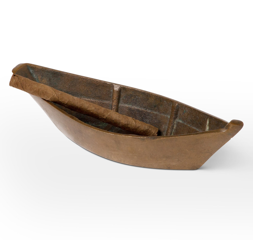 Vintage Bronze Dory Boat Ashtray