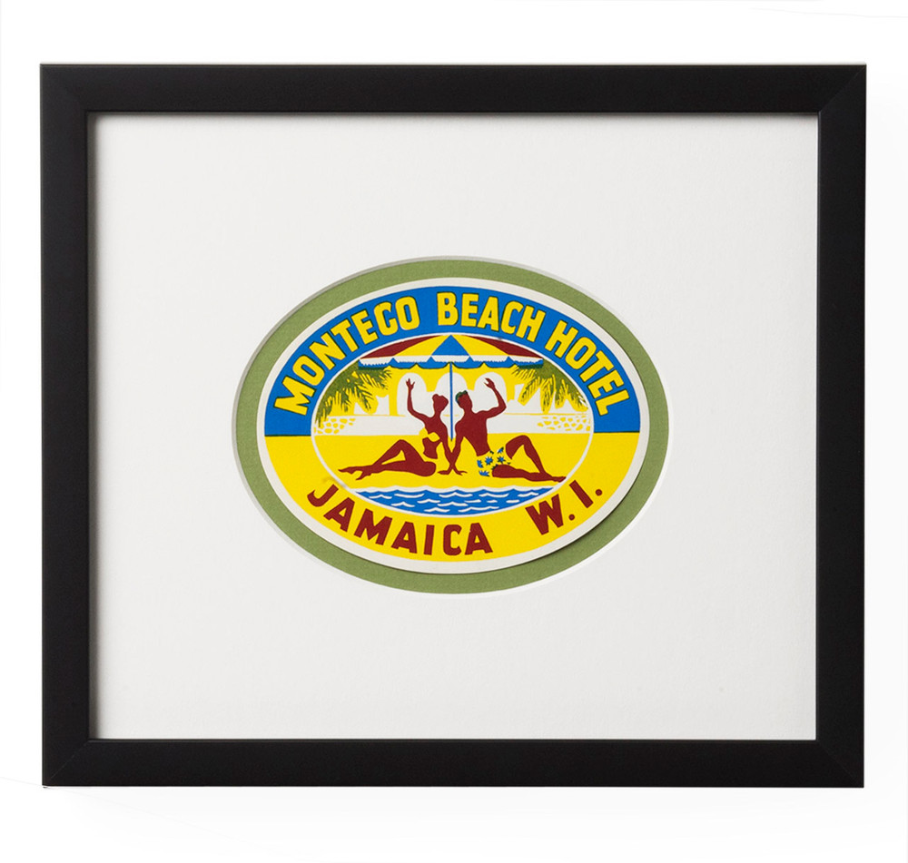 Montego Beach Hotel Jamaica Luggage Label