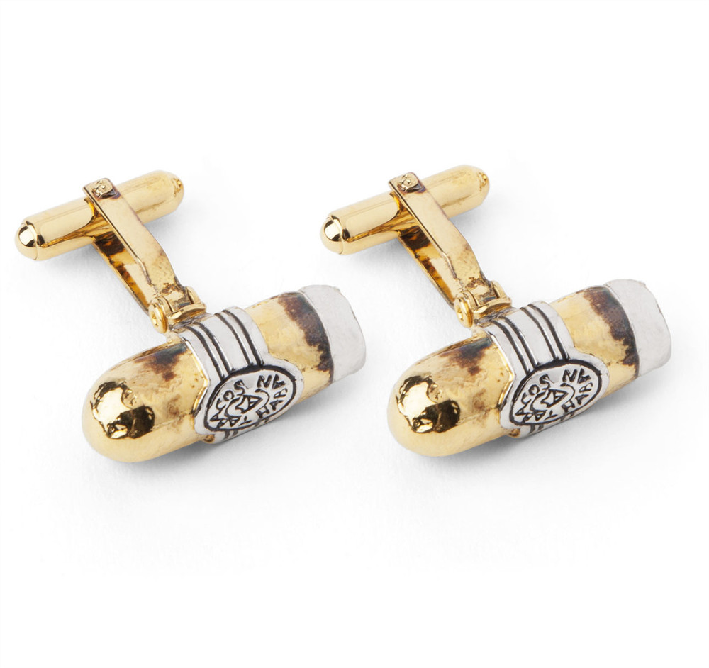 Vintage Sterling Silver Hayward Cigar Cufflinks