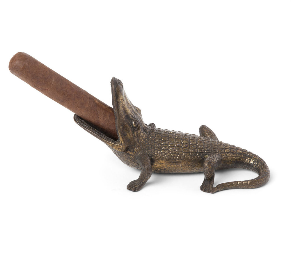Vintage Alligator Form Cigar Ashtray