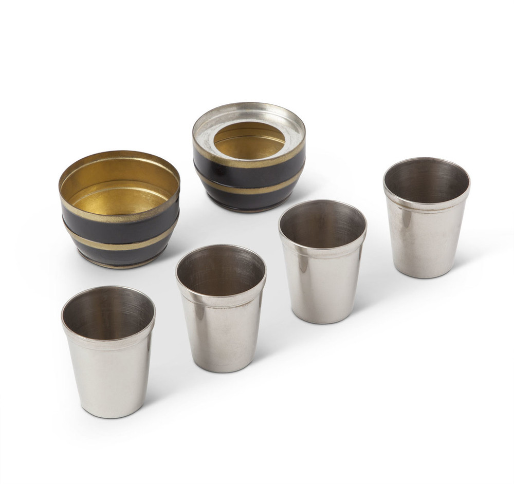 Barrel Form Travel Shot Cup Set