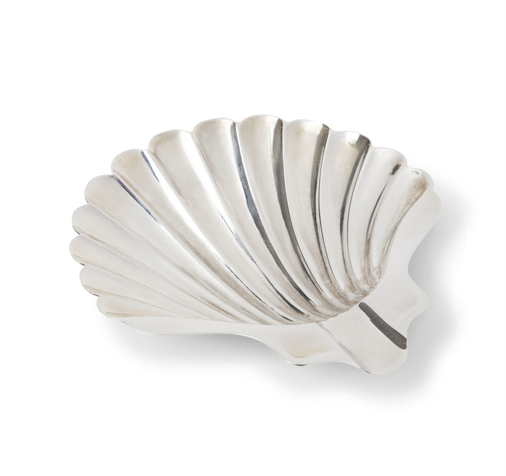 Sterling Shell Form Footed Ashtray