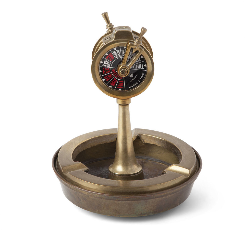 Brass Ship's Telegraph Form Ashtray