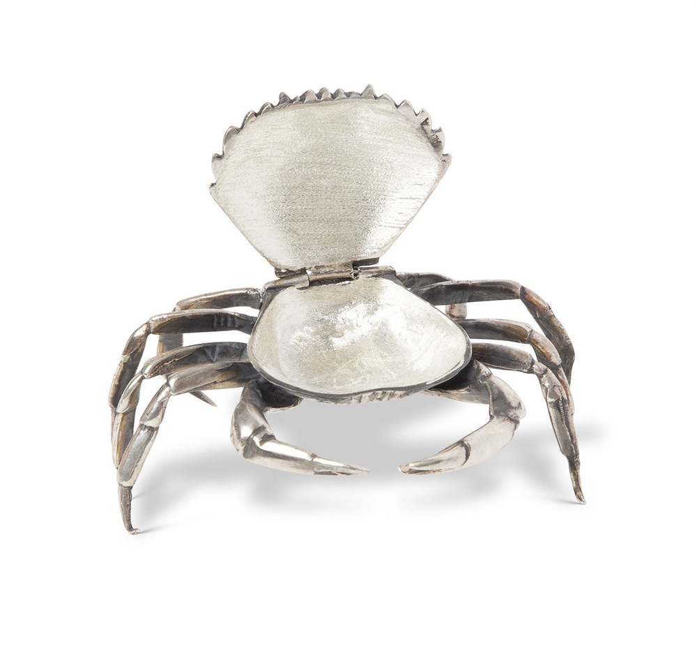 Sterling Silver Crab Form Ashtray
