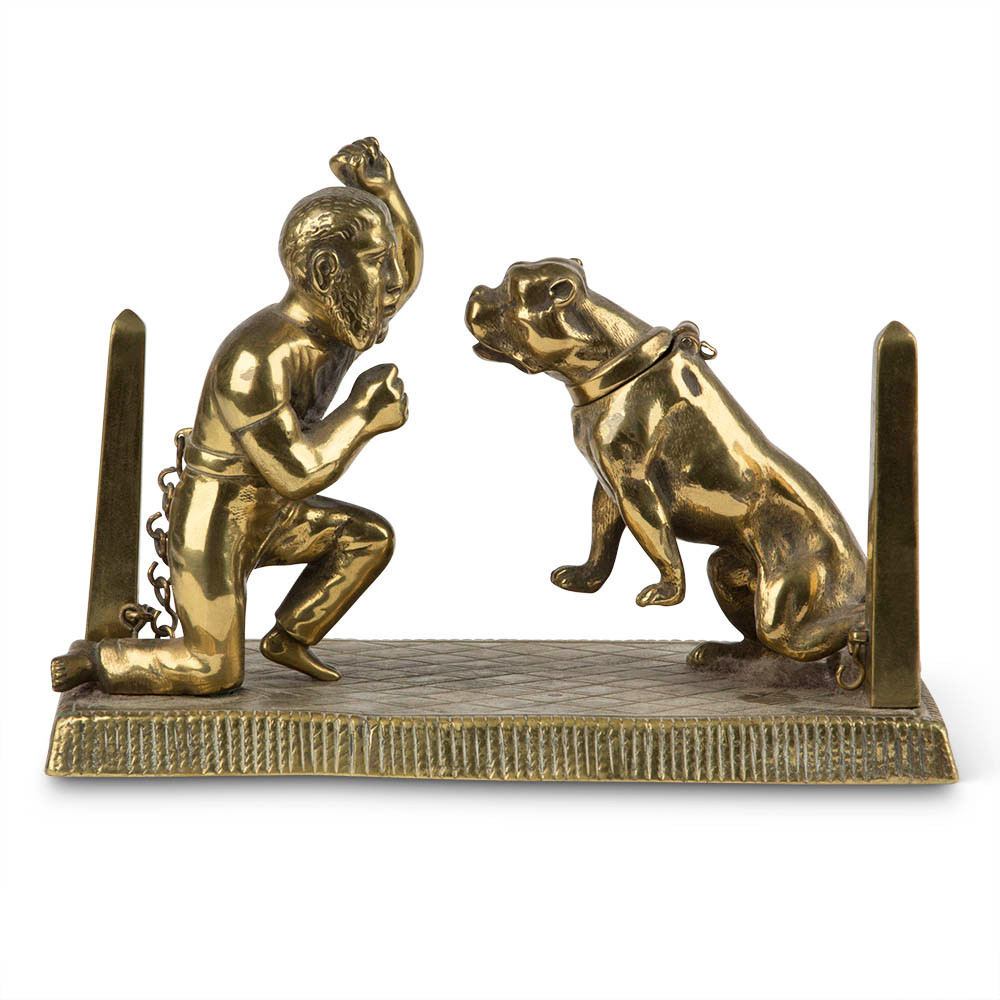 Antique Bronze Pitbull Tobacconist Counter Cigar Lighter