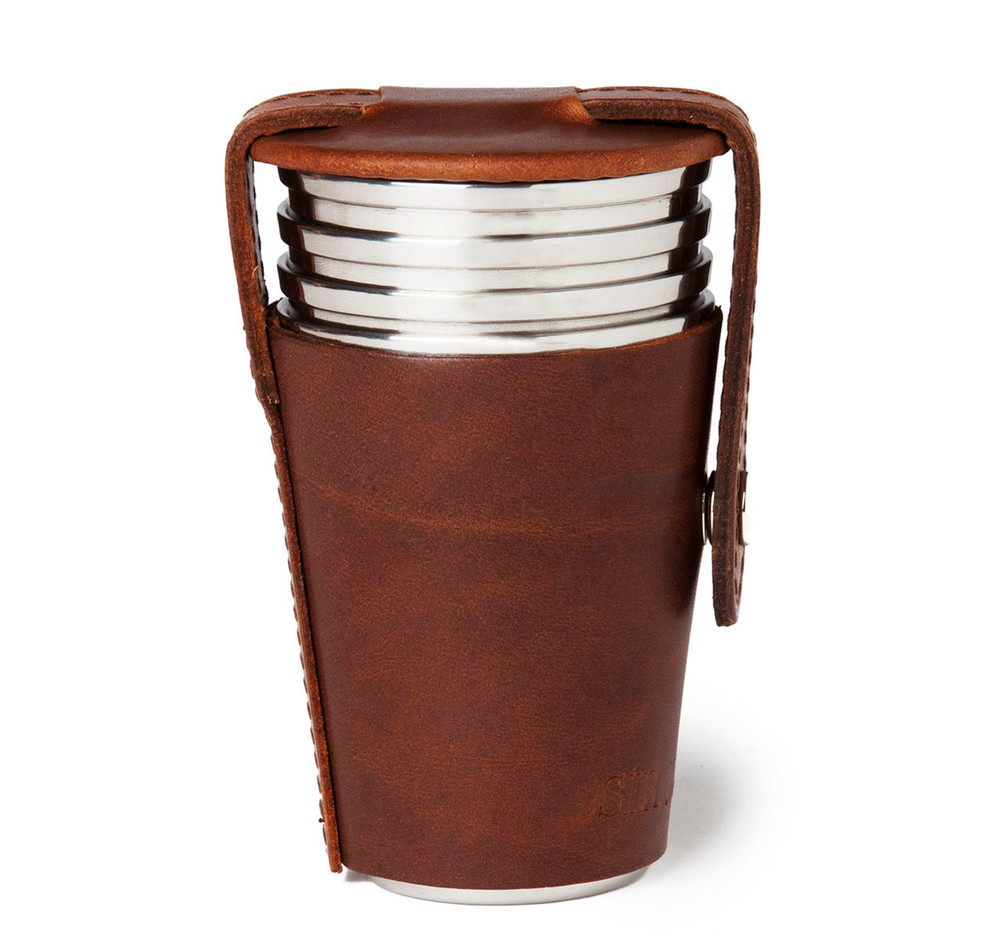 Sir Jack's Havana Leather 4oz Cup Set