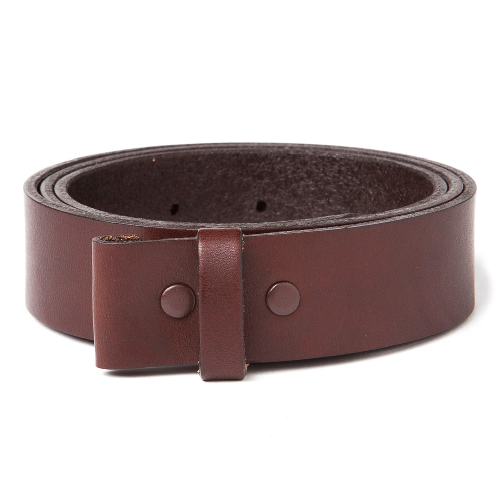 "Premium Brown 1-1/4"" Belt Strap"