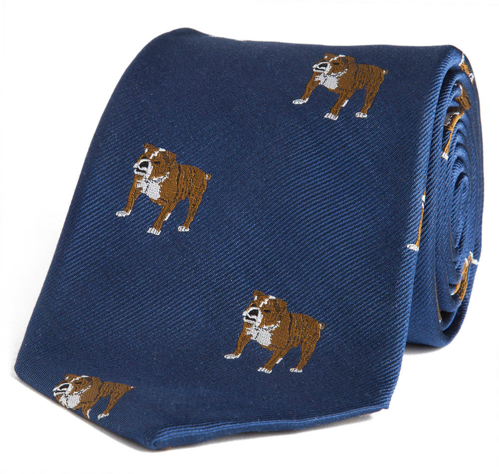 Sir Jack's Bulldog Tie in Navy