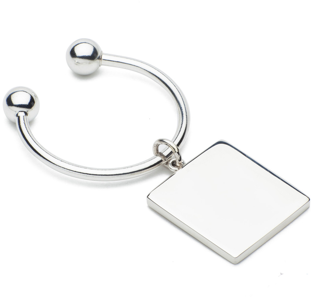 Sir Jack's Sterling Ball & Square Key Ring