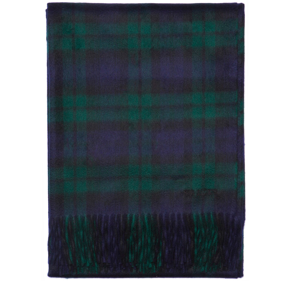 Sir Jack's Cashmere Blackwatch Tartan Throw