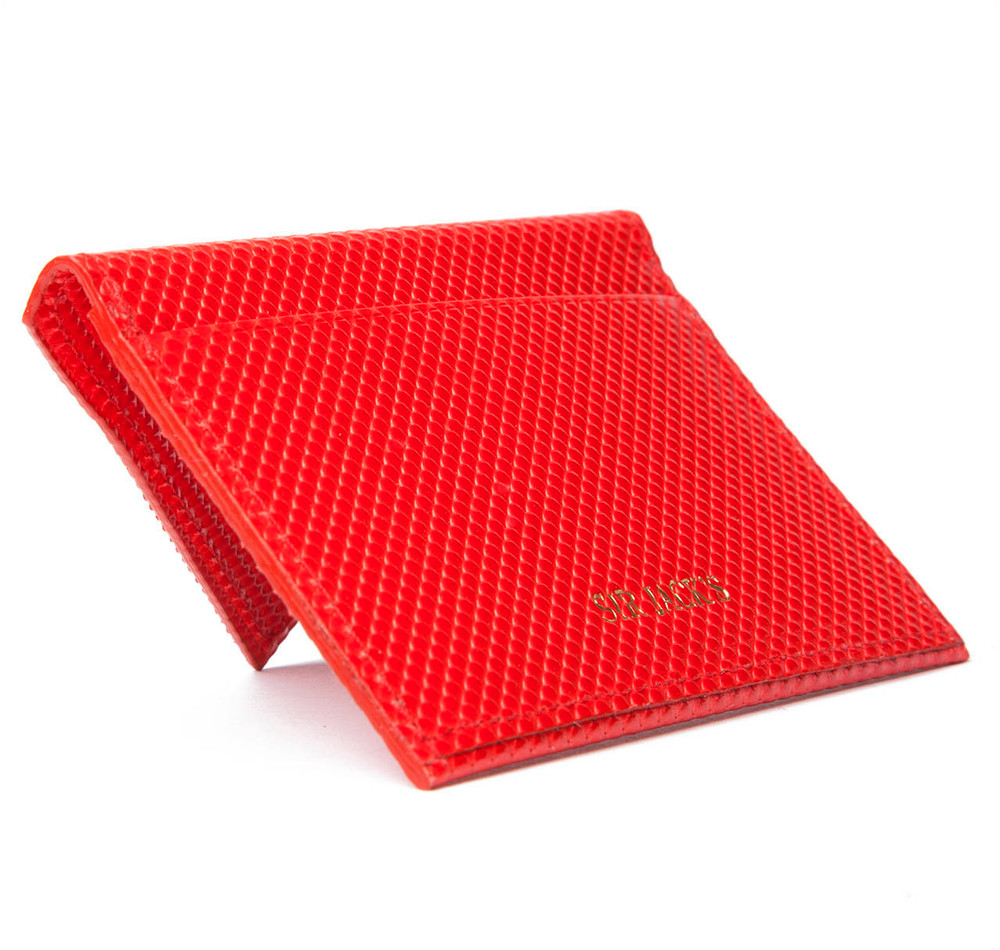 Sir Jack's Red Carbon Fibre Envelope Card Holder