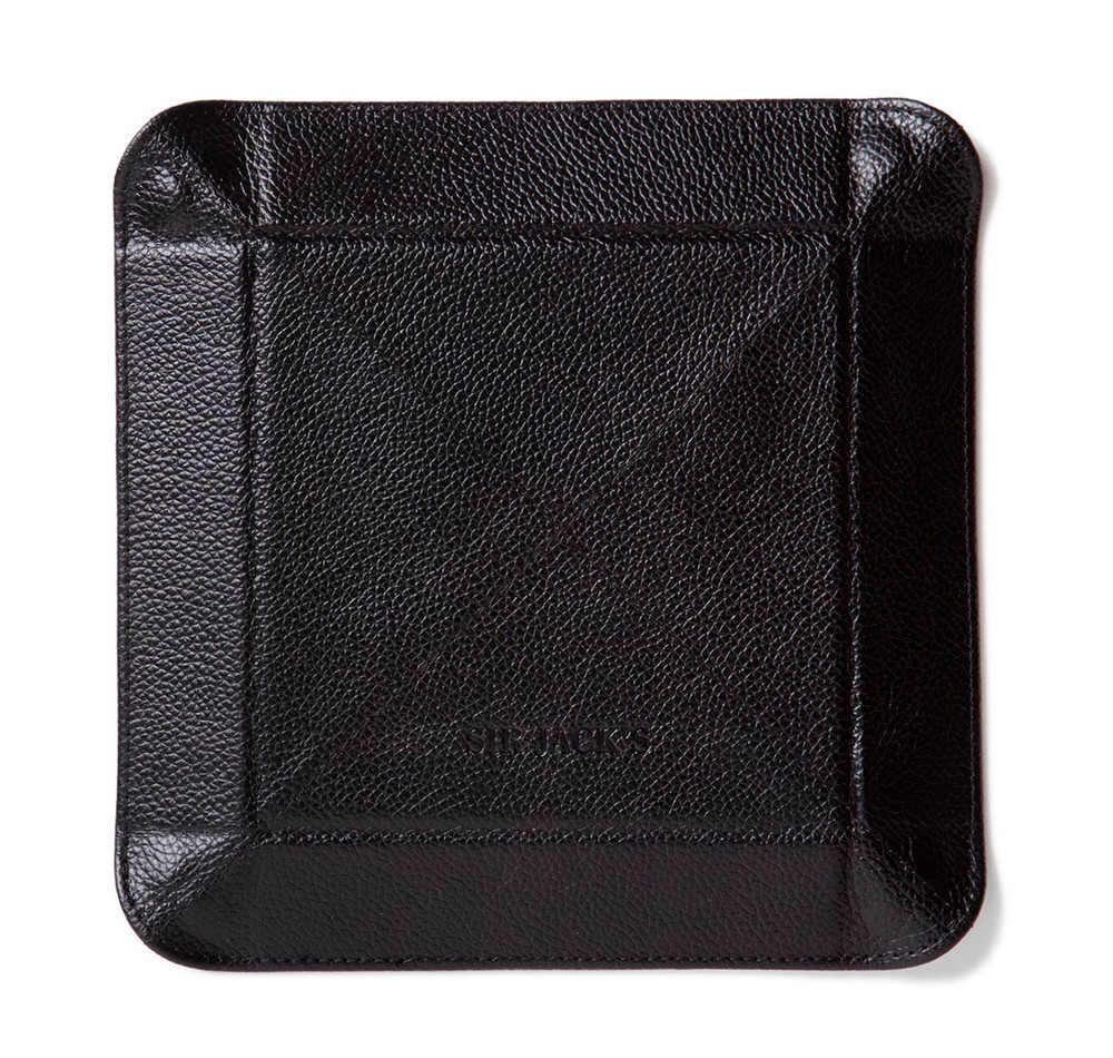 Black Leather Travel Tray
