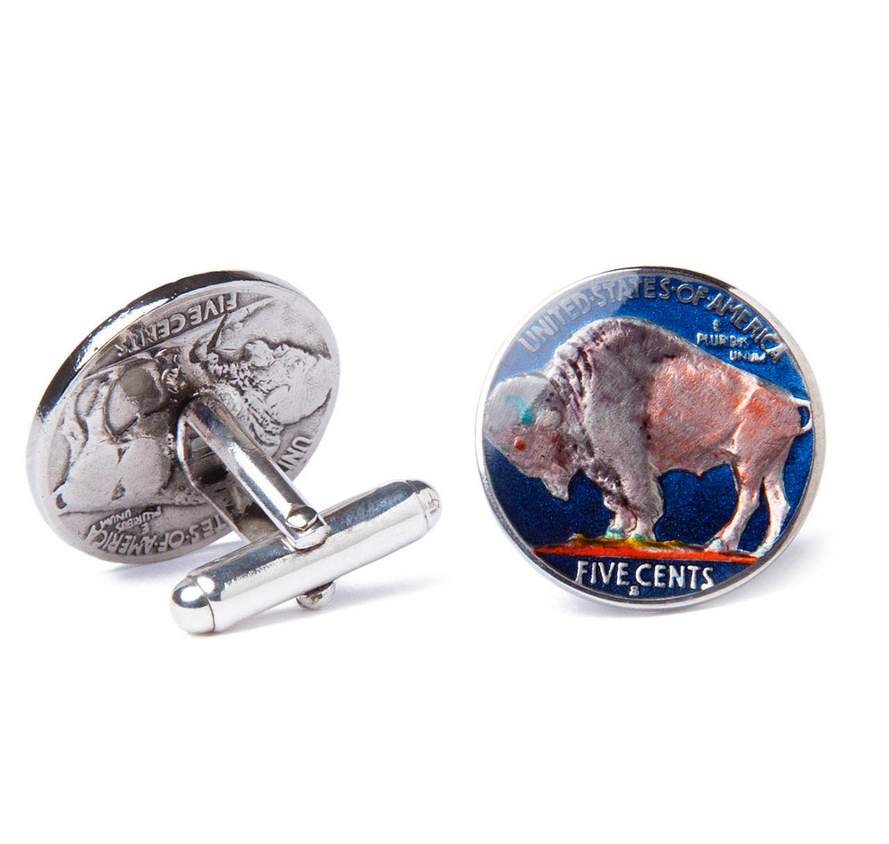 American Buffalo Nickel Coin Cufflinks
