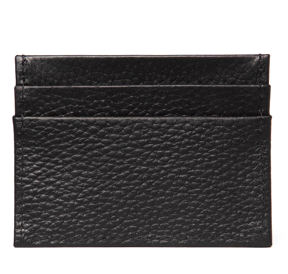 Black Leather Card Case