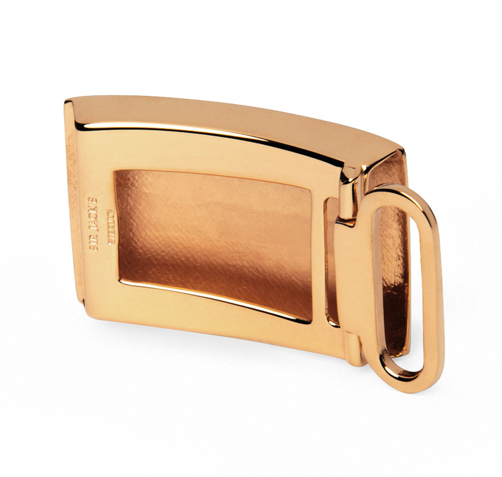 Gold Vermeil Engine Turned Belt Buckle