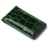 Glazed Forest Green Alligator Money Clip