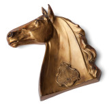 Brass Horse Head Ashtray