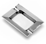 Art Deco Sterling Silver Engine-Turned Ashtray