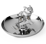 Chrome-Plated Bulldog Cigar Ashtray