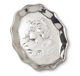 Art Nouveau Sterling Silver Smoking Lady Ashtray