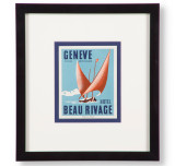 Hotel Beau Rivage Geneve Luggage Label