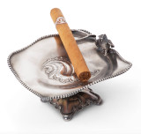 Pairpoint Silver-Plated Cigar Ashtray