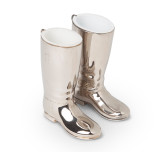 Vintage Silver Riding Boot Figural Jigger Set