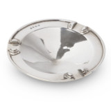 Art Deco Sterling Silver Circular Ashtray