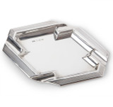 Sterling Silver Octagonal Engine-Turned Ashtray
