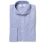 Lennox Blue Check Shirt French Cuff